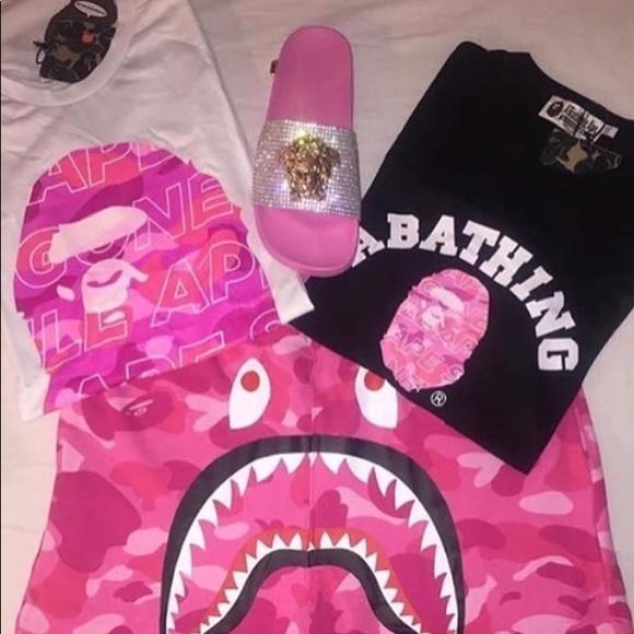 bape shirt and shorts
